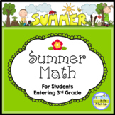 Common Core Summer Math - 2nd Graders Going to 3rd