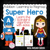 Common Core, Super Hero Double Digit Addition With and Wit