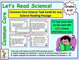 Common Core Task Cards for Any Science Informational Text (6-12)