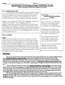 Common Core Text-Dependent Writing Prompt Response to Lite