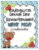Common Core Winter Math Review/Homework Packet {Kindergarten}