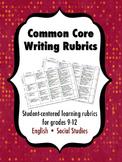 Common Core Writing Rubrics, Grades 9-12 Bundle