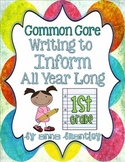 Common Core- Writing to Inform All Year Long