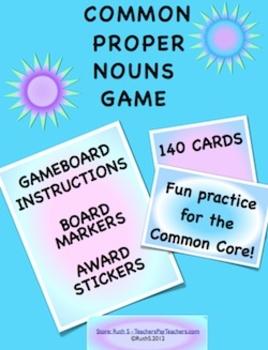 Common Proper Nouns Game