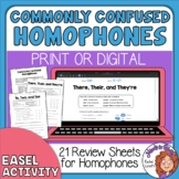 Commonly Confused Homophones Printables: To-two-too, your-