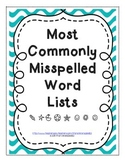 Commonly Misspelled Word Lists - ALL GRADES