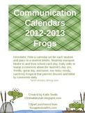 Communication Calendars Frogs Version