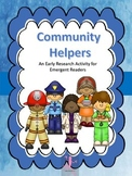 Community Helpers Beginning Level Research Activity