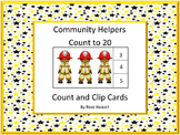 Community Helpers Count To 20 Count and Clip Cards