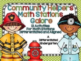 Community Helpers' Math Stations Galore-13 Differentiated