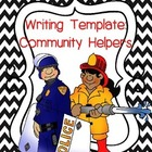 Community Helpers: Writing Template