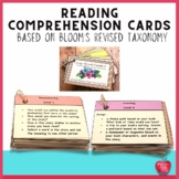 Comp. Quest Cards 2 Comprehension Cards Based on Blooms Re
