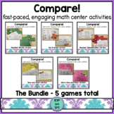 Compare! Bundle- 4 skill based games for math centers