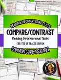 Compare Contrast Two or More Texts Common Core Close Reading