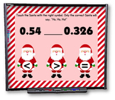 Comparing Decimals (Christmas Style) Smart Board Game - FREE