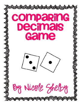 Comparing Decimals Game Freebie