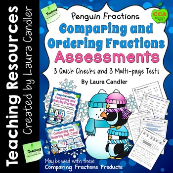 Comparing Fractions Assessments (Penguin Version)