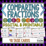 Comparing Fractions Task Cards { Common Core } 48 Engaging