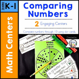 Comparing Numbers Math Centers Kindergarten