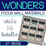 Complete Wonders Focus Wall Materials {5th Grade}