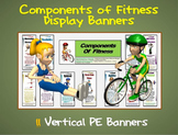 Components of Fitness Display Banners: 11 Large Vertical P