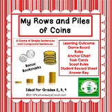 Compound Sentences: My Rows and Piles of Coins