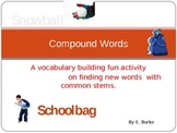 Compound Words-Vocabulary Development