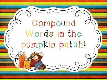Compound word Pumpkin Puzzles!