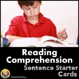 Reading Comprehension Sentence Starter Cards