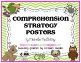 Comprehension Strategy Posters {Chevron Stripes}