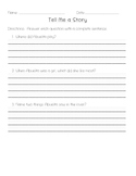 Comprehension Test - Tell me a Story