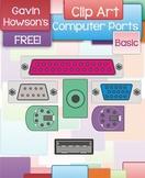 Computer Ports Clip Art - FREE