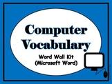 Computer Vocabulary Word Wall (Microsoft Word)