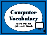 Computer Vocabulary Word Wall (Microsoft Word)
