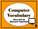 Computer Vocabulary Word Wall (PowerPoint)
