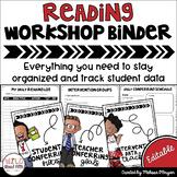 Data Tracking Workshop Organizer: Reading Teacher Binder (