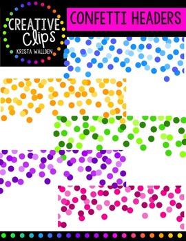 Confetti Headers {Creative Clips Digital Clipart}