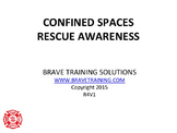 Confined Spaces Technical Awareness