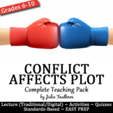 Conflict Affects Plot Complete Teaching Pack, Any Text, Ta