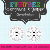 Congruent and Similar Figures Clip-a-Match