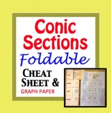 Conic Sections Cheat Sheet - Foldable for Circle, Parabola