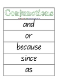 Conjunctions Word Wall - 4 pages Literacy Centre Activity