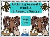 Consonant Digraphs Games  {sh,th,wh,ch,ck} Animals
