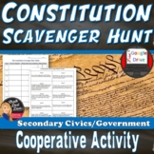 Constitution Scavenger Hunt Interactive Activity