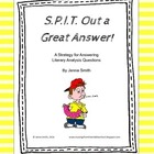 Constructed Response Anchor Poster - SPIT Out a Great Answer!