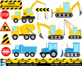 Construction Digital Clip Art Personal Commercial Use 26 P
