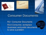 Consumer Documents an Introduction