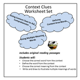 Context Clues  - Nine Worksheet Set
