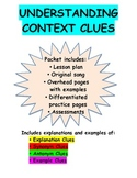 Context Clues Pack: Lesson Plan, Song, Overhead Pages, Wor