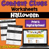 Context Clues Worksheet- Halloween